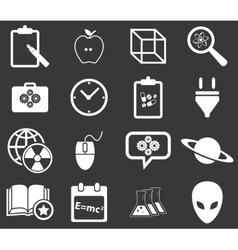 Science icon set 3 monochrome vector