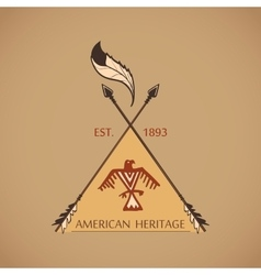 American indian emblems and labels vector