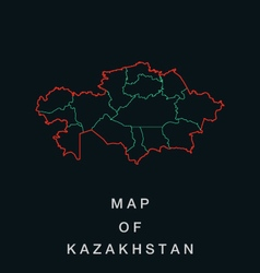 Map of the republic of kazakhstan vector