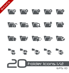 Folder icons basics vector