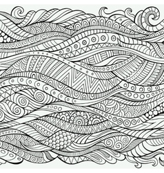 Outline abstract ornamental ethnic stripe vector