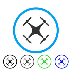 Airdrone rounded icon vector
