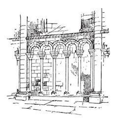 Arcature arcade of small dimensions vintage vector