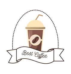 Best coffee paper cup beverage vector