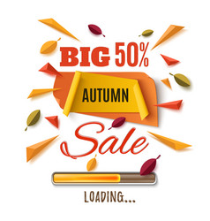 Big autumn sale abstract banner vector