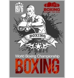 Boxing Club Logo Emblem Label Badge T-Shirt vector image vector image
