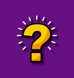 Bright question mark image vector