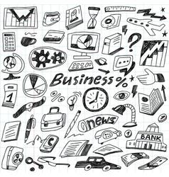 Business - doodles set vector image