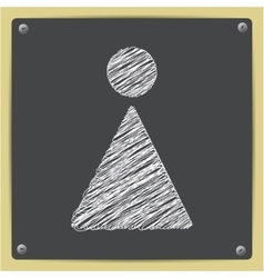 chalk drawn sketch oficon vector image vector image
