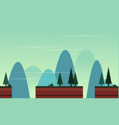 Collection landscape beauty game backgeound vector