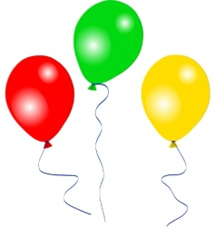colourful party balloons vector image vector image