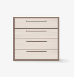 Commode realistic design on white background vector