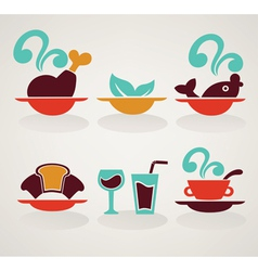 common food in infographic style vector image