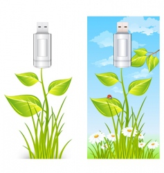 eco USB drive vector image