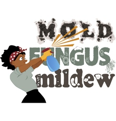 Fighting mold fungus and mildew vector