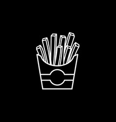 French fries line icon food drink elements vector