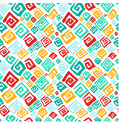 hand drawn artistic seamless pattern with vector image vector image