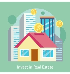 Invest in estate built offices apartments houses vector