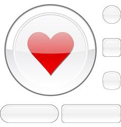 Love white button vector