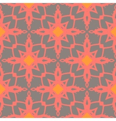 Pattern with bold ornamental stylized flowers vector