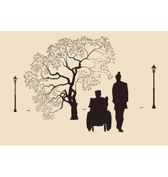 People with disabilities vector