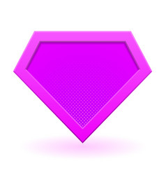 Pink superhero logo vector