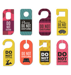 please do not disturb hotel door quiet motel vector image