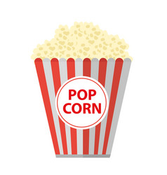 popcorn icon flat cartoon style isolated on vector image