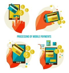 Processing of mobile payments vector