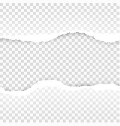 ripped paper transparent template eps 10 vector image vector image