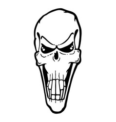 scary evil skull vector image vector image