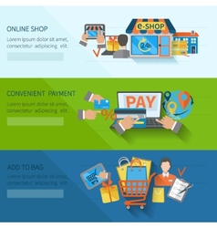 Shopping e-commerce banners vector