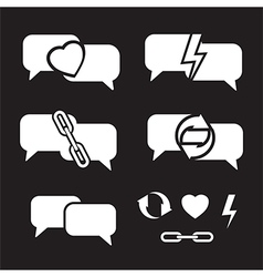 speech bubbles on dark vector image vector image