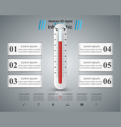 thermometer health icon business infographic vector image vector image
