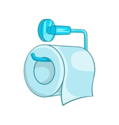 Toilet paper icon in cartoon style vector image