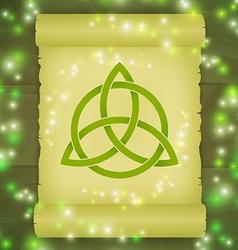 Triquetra symbol spell vector