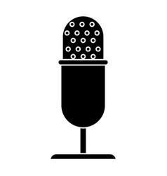 Vintage microphone studio style pictogram vector