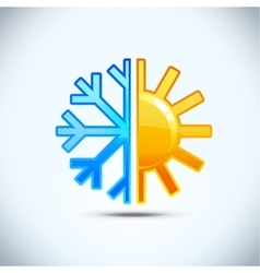 Winter and summer concept icon vector image