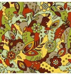 Autumn seamless pattern colorful vector image