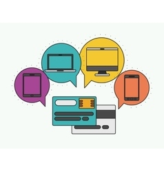 Network electronic devices communication vector