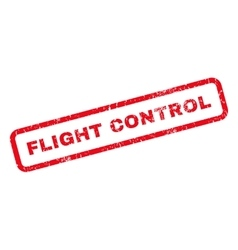 Flight control rubber stamp vector