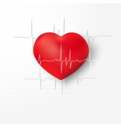 Creative concept of world heart day vector image