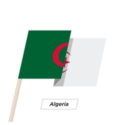 Algeria ribbon waving flag isolated on white vector