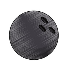 Drawing bowling ball equipment vector