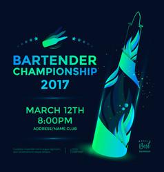 Bartender championship poster vector