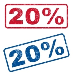 20 percent rubber stamps vector