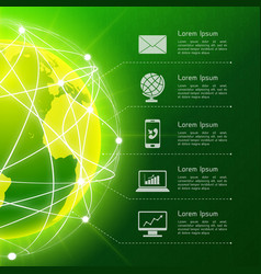 Network green background vector