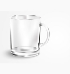 Empty mug with handle vector