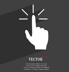 Click here hand icon symbol flat modern web design vector