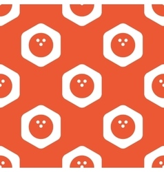 Orange hexagon bowling pattern vector